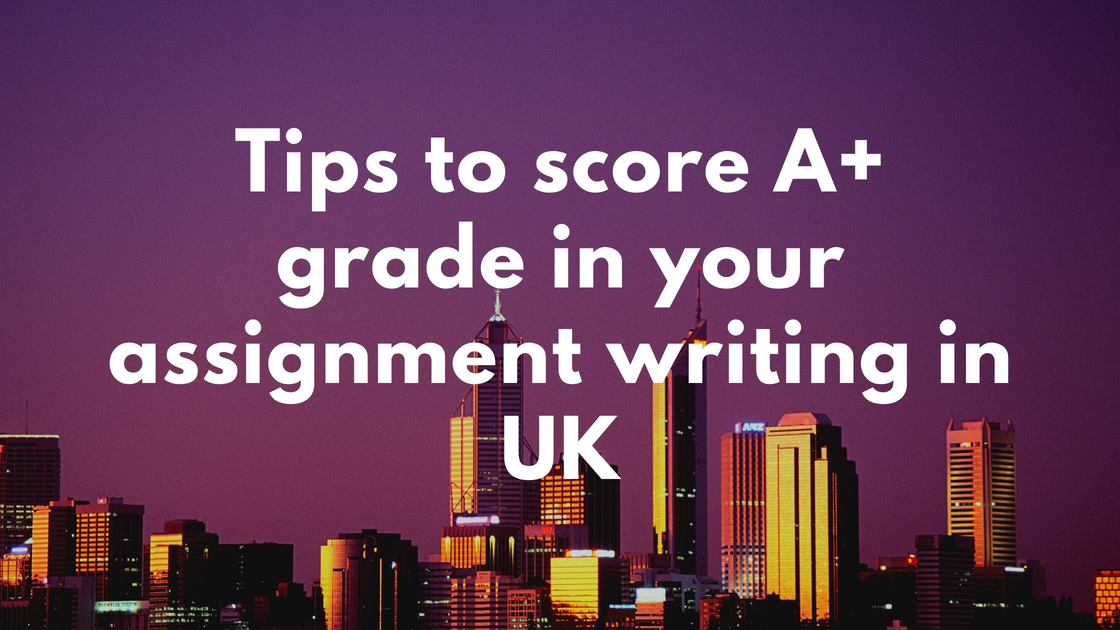 assignment writing in UK