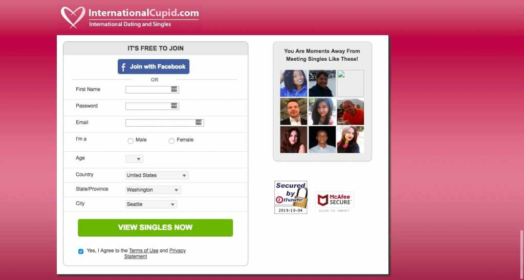 International Cupid | Dating Site For International Matches
