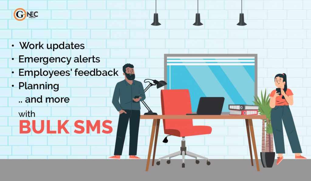 How can bulk SMS make your workplace positive and motivated?